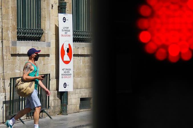 벨기에 브뤼셀 수도권 전역 공공장소 마스크 착용 의무화