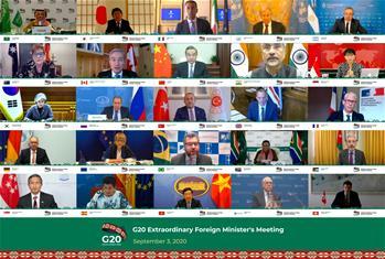 G20 외교장관, 코로나19 대응 위해 국제적 협력 강화 약속