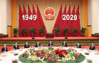 시진핑 등 당과 국가 지도자, 국경절 경축 리셉션 참석