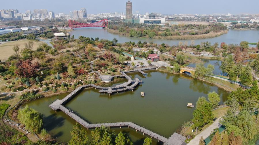 장쑤 양저우: 한 폭의 그림 같은 운하공원