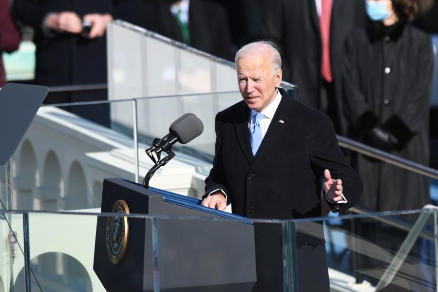 바이든, 미국 대통령 취임