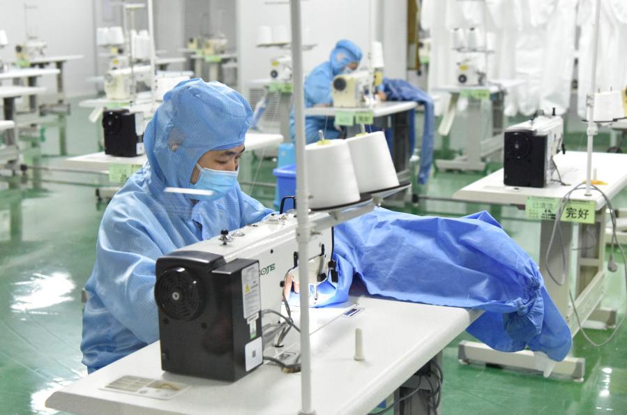 하얼빈: 방역물품 생산 '바쁘다 바빠'