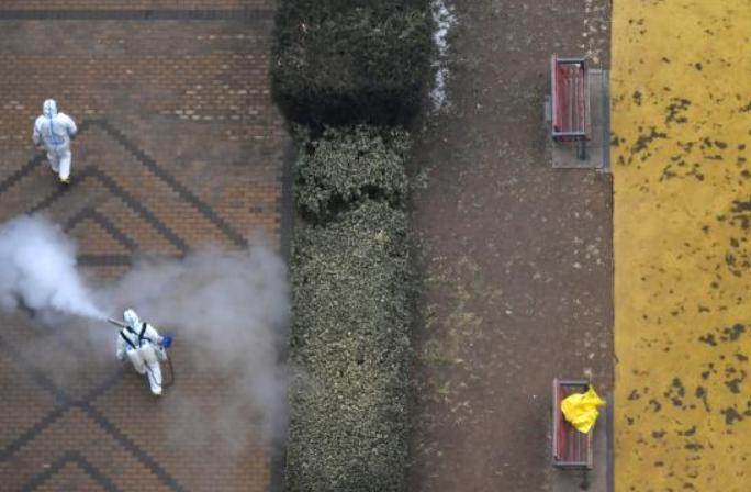 베이징,코로나19 고위험 지역 소독 작업 가속