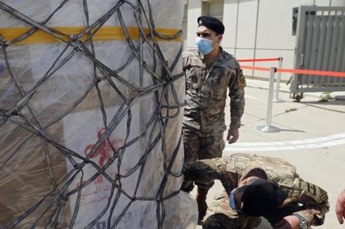 레바논 지원 중국 코로나19 백신 베이루트 도착