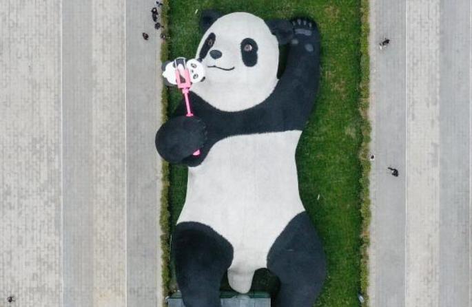 쓰촨 두장옌, 새로운 랜드마크 '셀피 찍는 판다' 조형물 설치